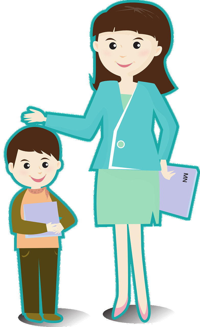 784x1280 Teacher With Student Clipart Transitionsfv
