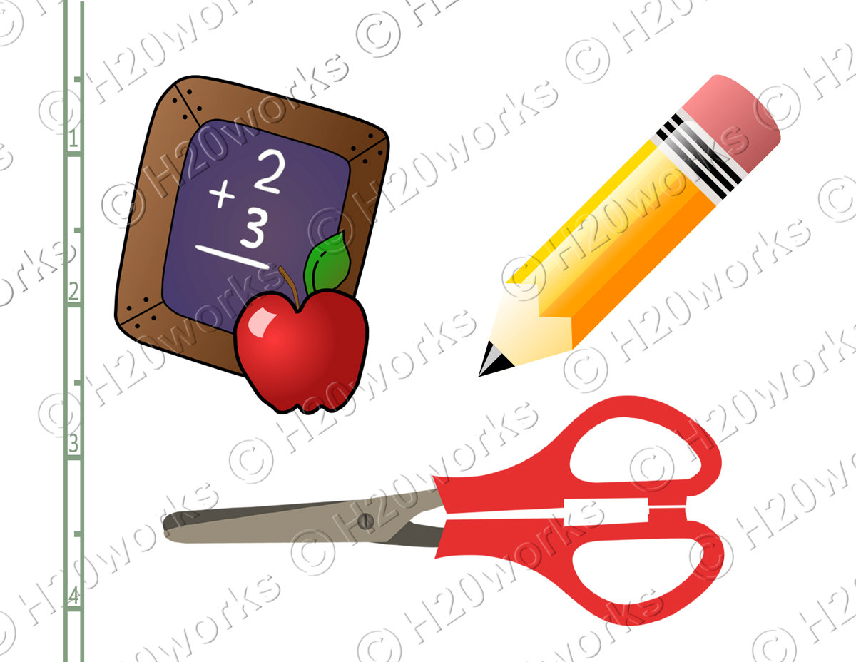 1200x928 Back To School Clipart, School Supplies, Educational Clip Art
