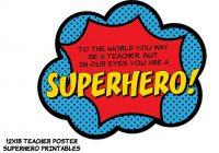 200x140 Teacher Appreciation Clip Art Instant Superhero Teacher Poster