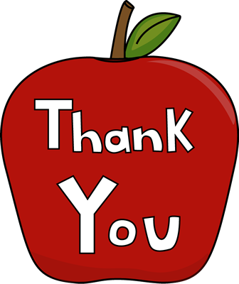 336x400 Teacher Apple Clipart Images Of Thank You Clip Art Thank You Apple