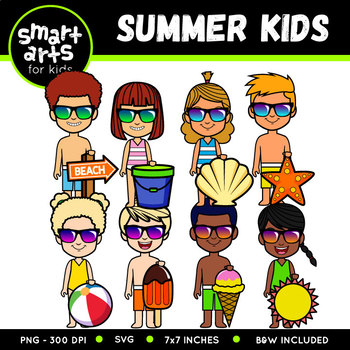 350x350 Summer Kids Clip Art By Smart Arts For Kids Teachers Pay Teachers