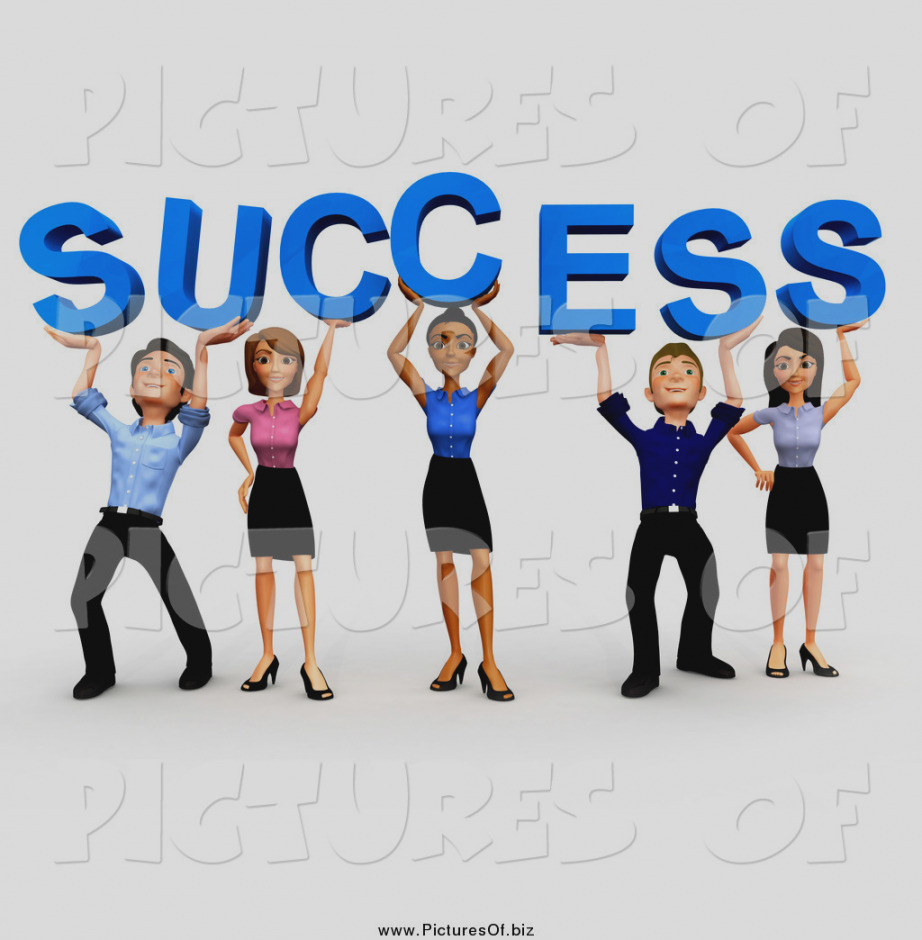 922x940 Trend Of Business Clip Art Clipart A 3d Team Holding Up Success By