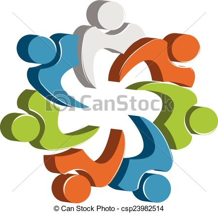 450x439 Team Work Clip Art Teamwork Unity People Logo Design Template Icon