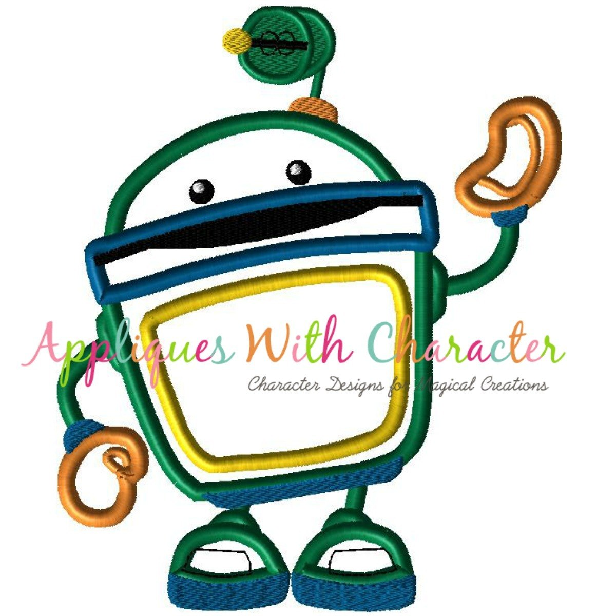 1200x1200 Team Umizoomi Bot Applique Design By Appliques With Character