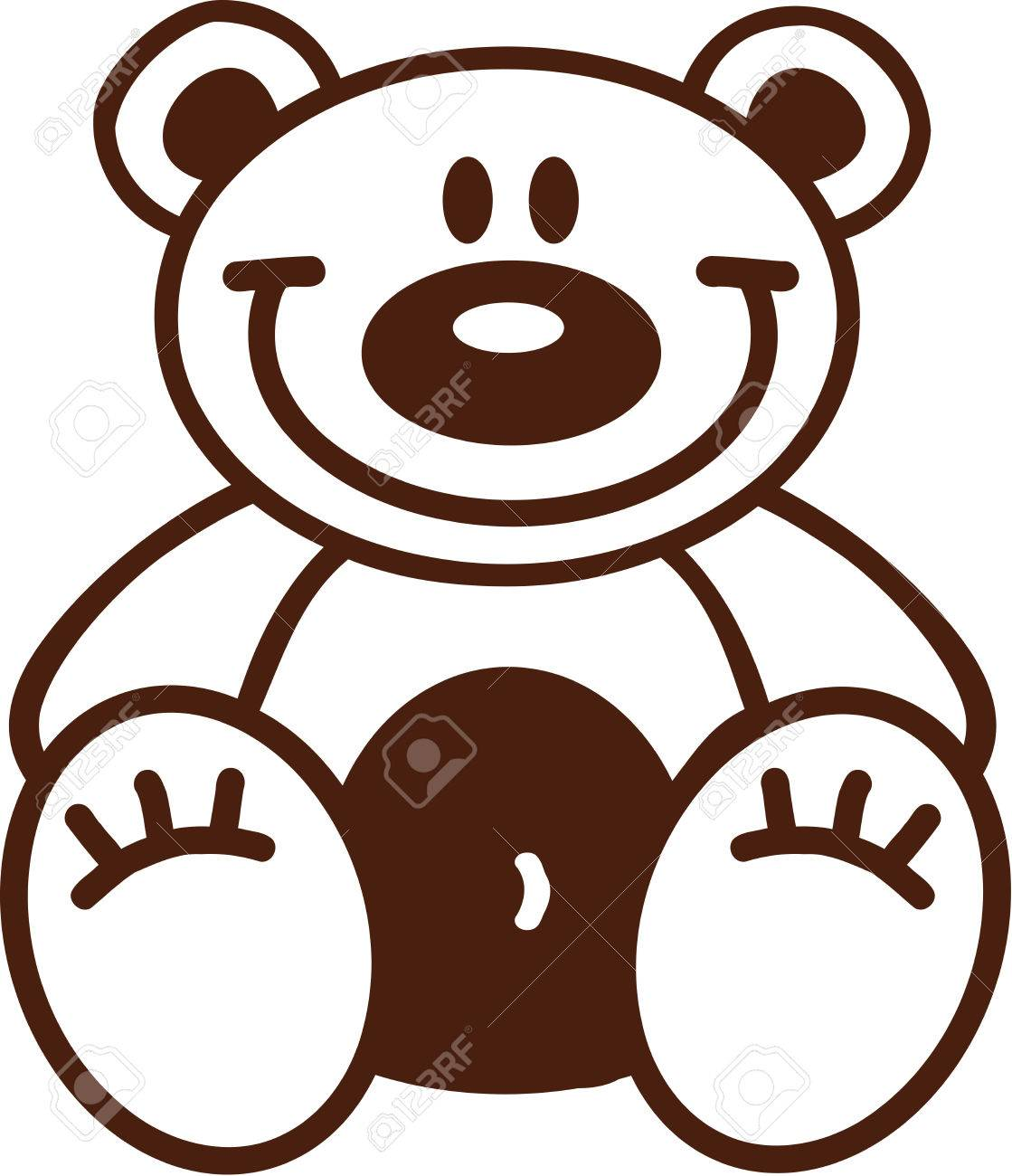 1119x1300 Astonishing Outline Of A Teddy Bear Clipart Pa