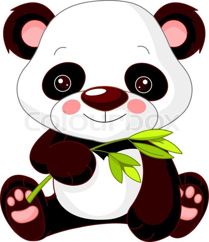690x800 Illustration Of Cute Panda Stock Vector Colourbox