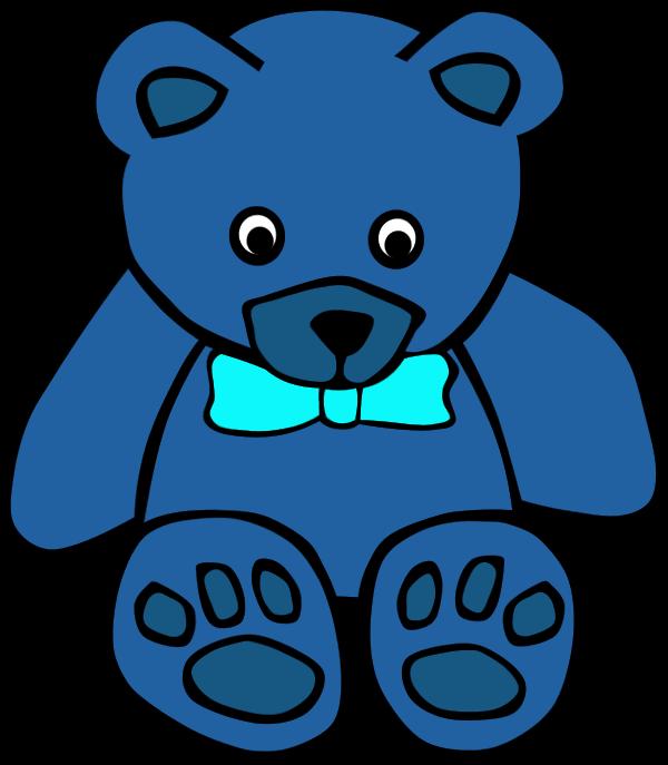 600x687 Rainbow Teddy Bear Clipart
