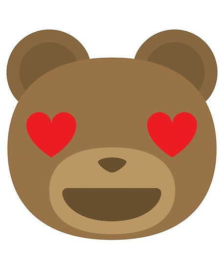 458x550 Emoji Teddy Bear Heart And Love Eyes Posters By Teeandmee Redbubble