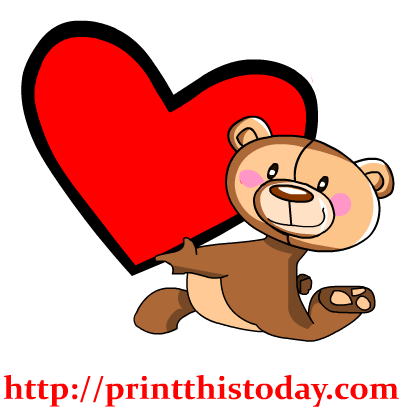 417x417 Free Love Teddy Bear Clip Art