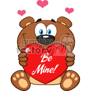 300x300 Royalty Free 10679 Royalty Free Rf Clipart Smiling Brown Teddy