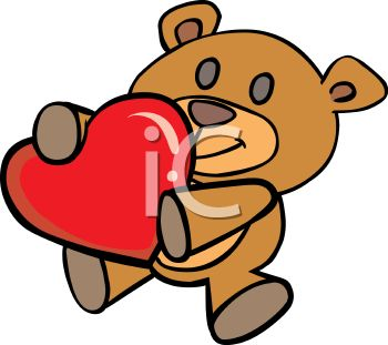 350x311 Royalty Free Clip Art Image A Teddy Bear Holding A Heart