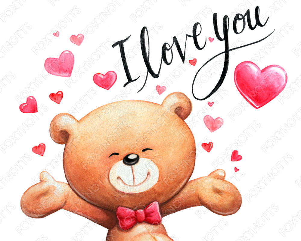 1000x800 Teddy Bear Clip Art With Hearts