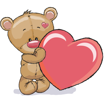 400x400 Teddy Bear And Heart Symbols Amp Emoticons