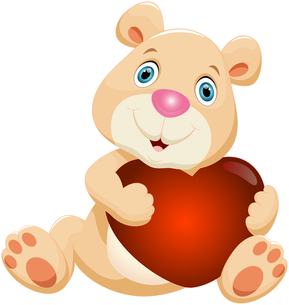568x600 Teddy Bear With Heart Png Clip Artu200b Gallery Yopriceville