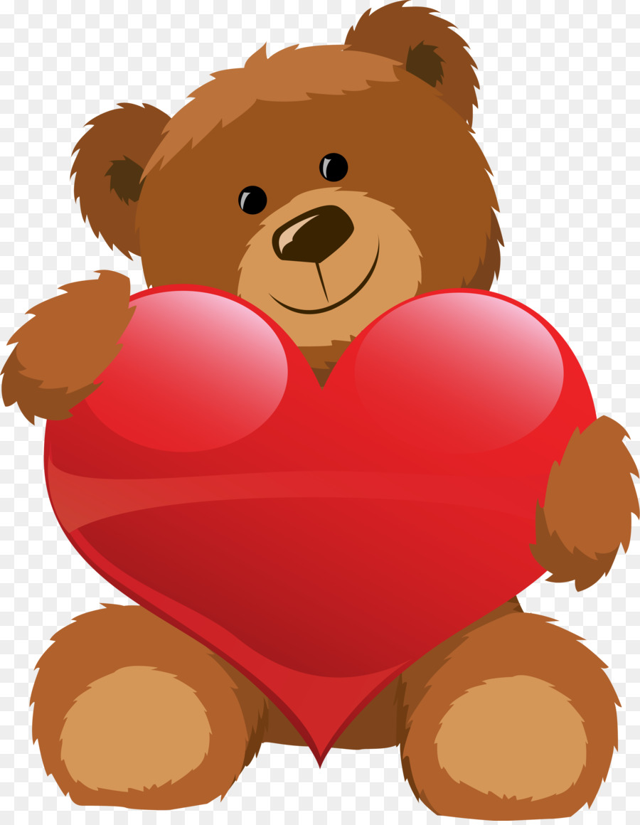 900x1160 Teddy Bear Valentine's Day Heart Clip Art