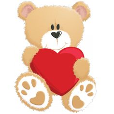 236x236 Bears With Love Hearts Cartoon Clip Art