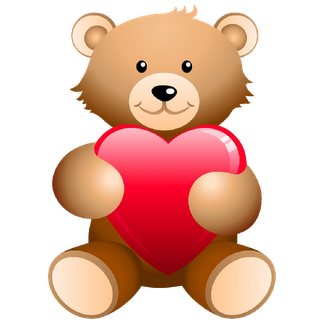 320x320 Bears With Love Hearts Cartoon Clip Art