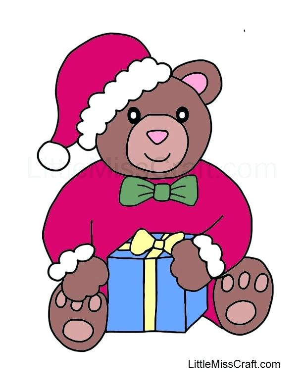 612x792 Christmas Teddy Bear Coloring Pages Crafts Page Colored Wisekids