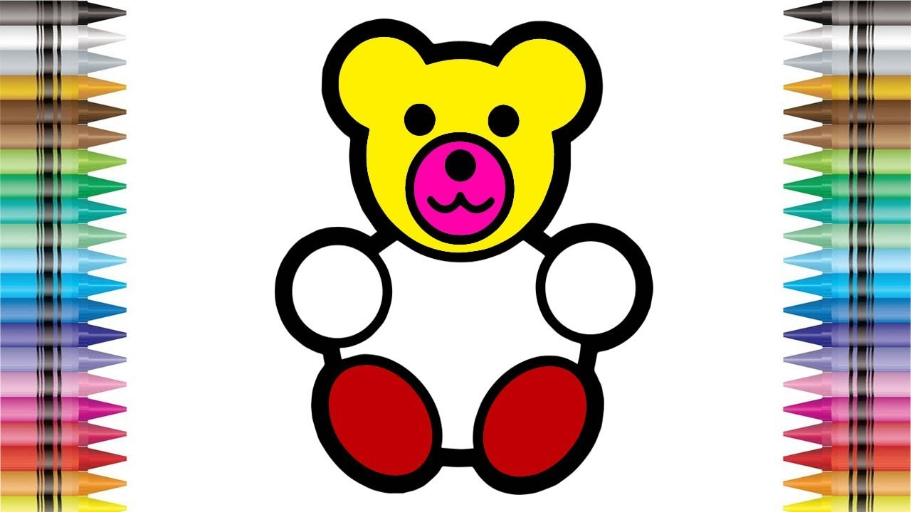 1280x720 Coloring Pages Teddy Bear Colouring Book Learn Colors For Kids