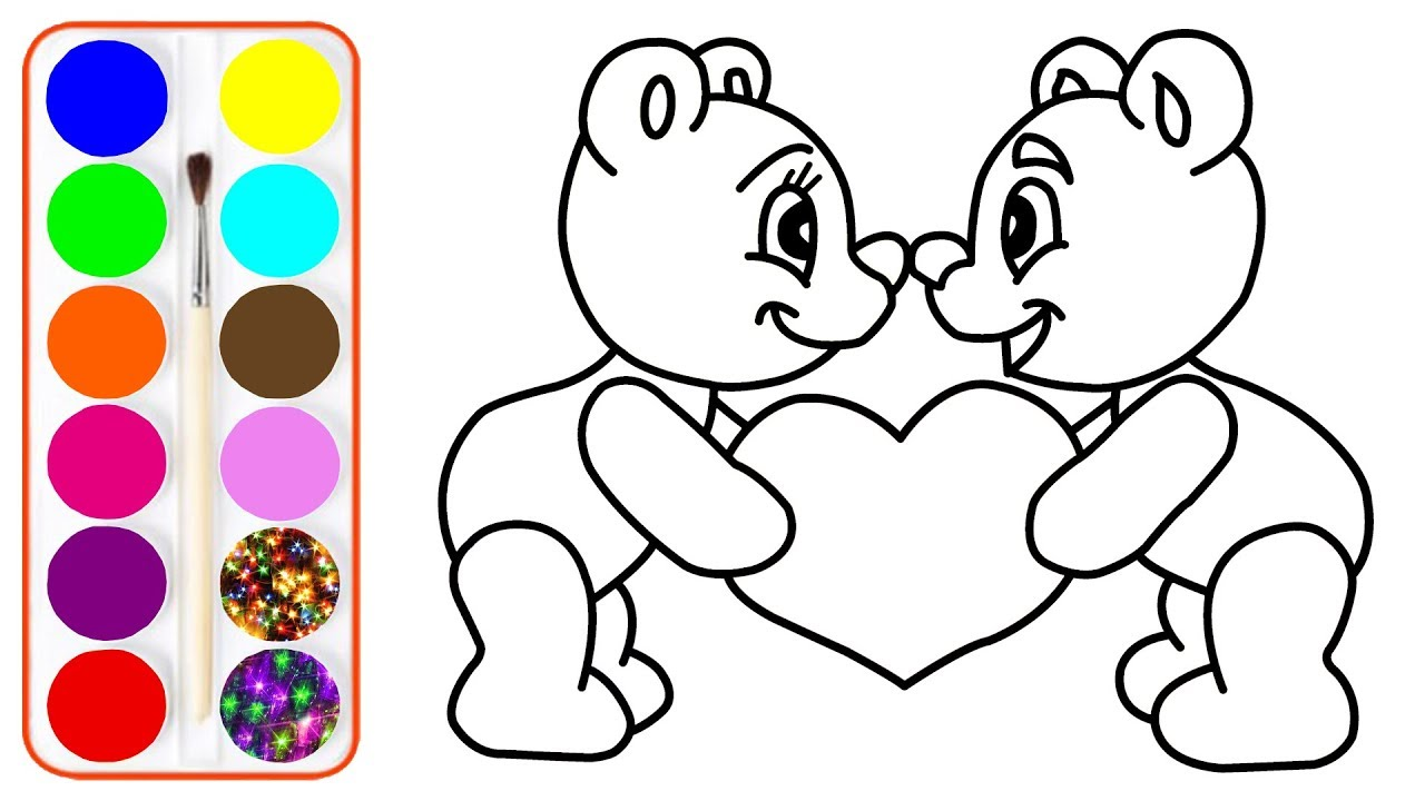 1280x720 Drawing And Coloring Teddy Bear Coloring Pages For Kids