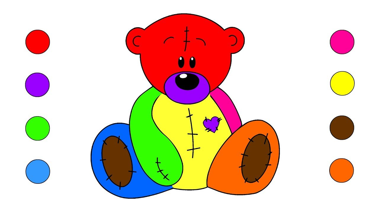 1280x720 How To Draw Teddy Bear Coloring Pages For Kids Children Toddlers