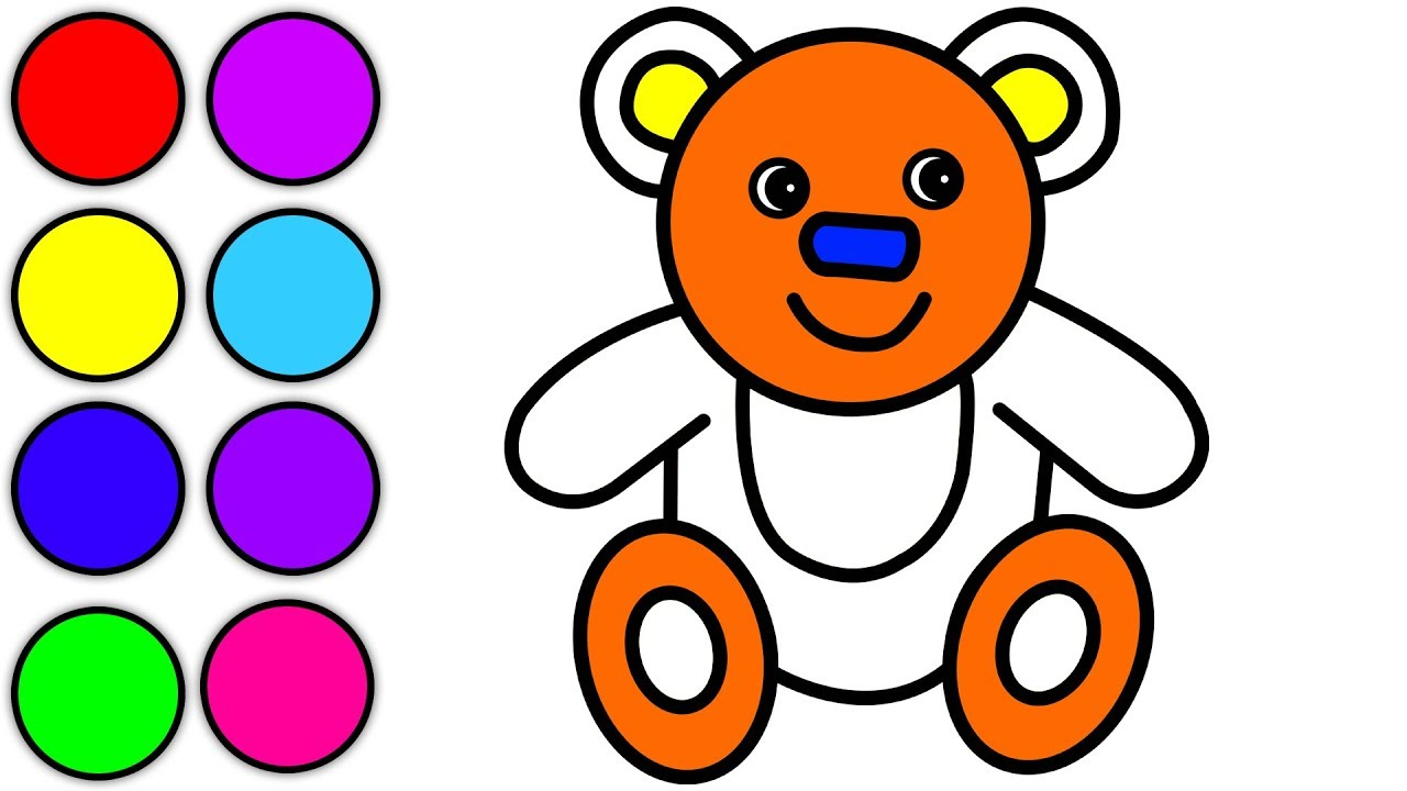 1280x720 Teddy Bear Coloring Pages For Kids How To Draw Teddy Bear