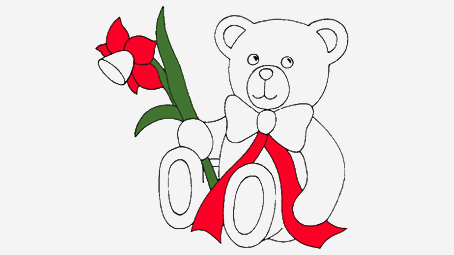454x255 Top 18 Free Printable Teddy Bear Coloring Pages Online