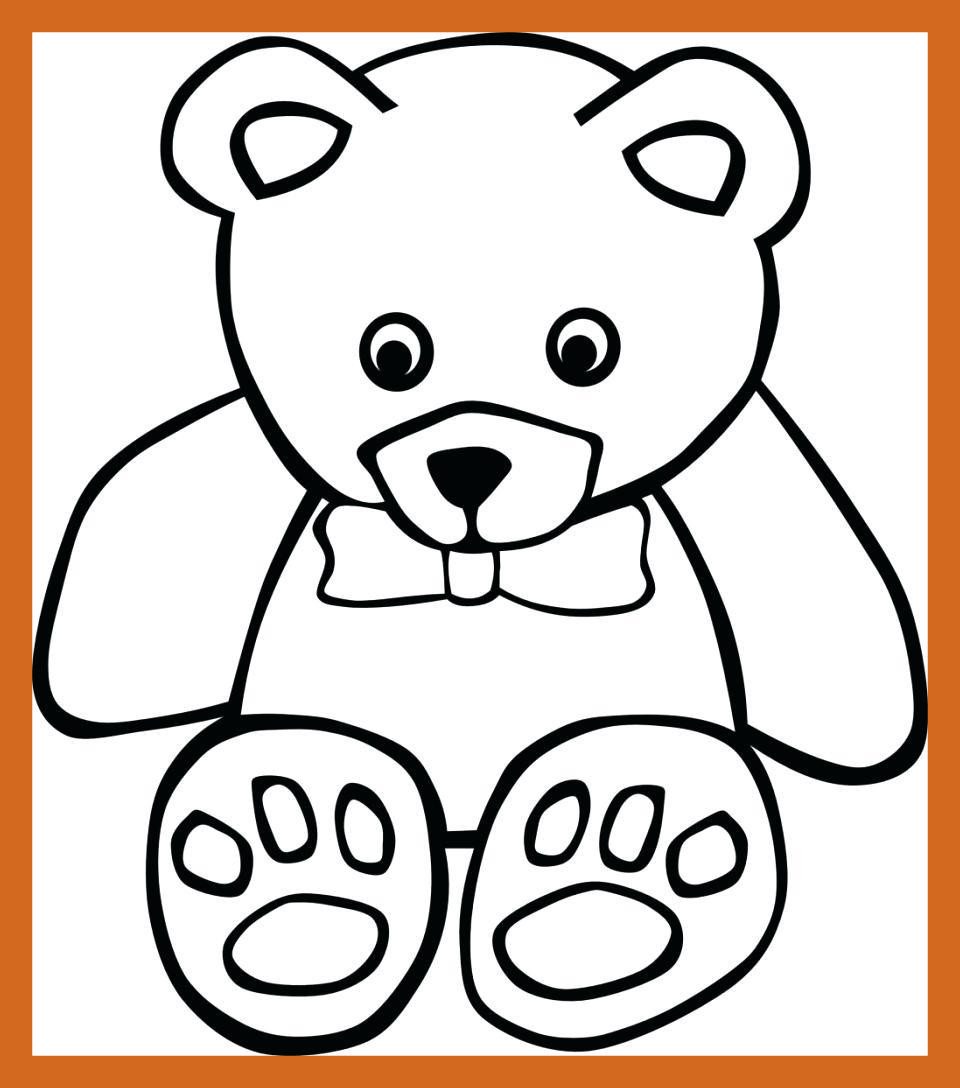 Teddy Colouring Pages at GetDrawings.com | Free for personal use ...