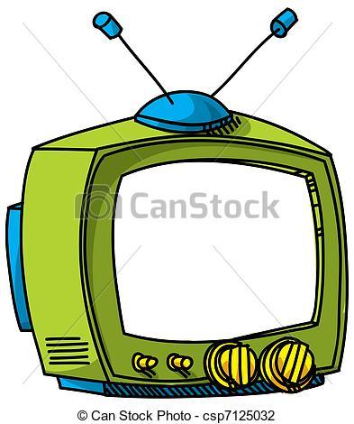 393x470 A Cartoon Tv. Clip Art