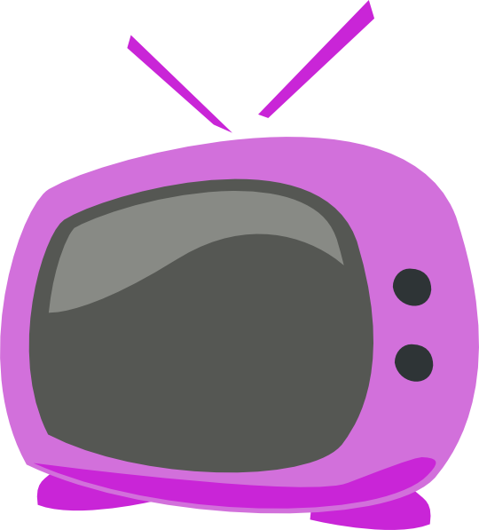 540x597 Extremely Creative Tv Clipart Purple Cartoon Clip Art At Clker Com