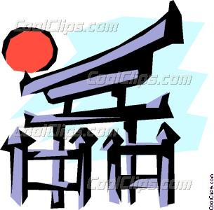 305x300 Japanese Temple Gate Vector Clip Art