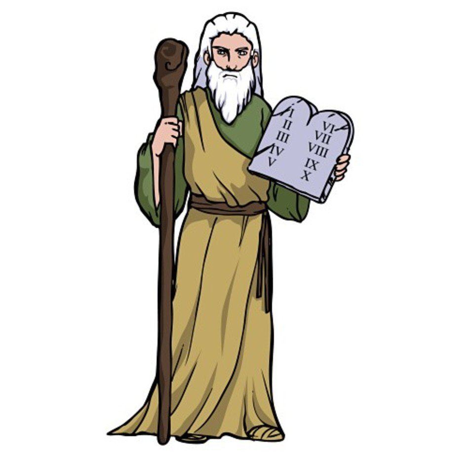 950x950 Moses Ten Commandments Clip Art Free Image