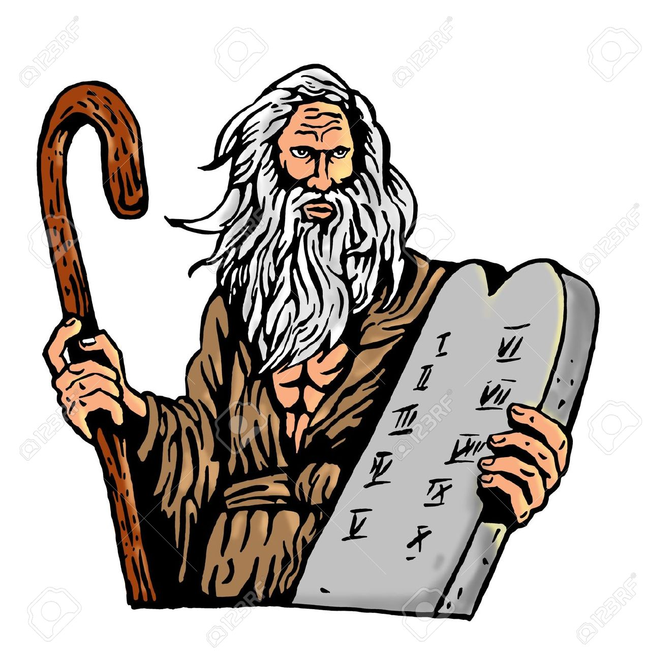 1269x1300 Moses Ten Commandments Clipart