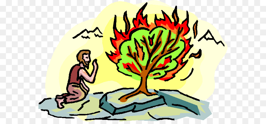 900x420 Book Of Exodus Burning Bush Bible Mount Sinai Clip Art