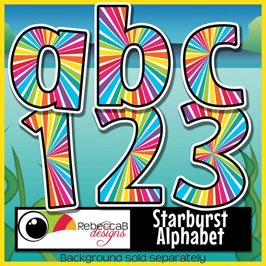 900x900 Bulletin Board Alphabet Clipart Clipart Letters Starburst