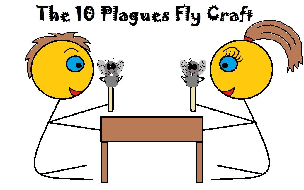 1037x648 The 10 Plagues Of Egypt Fly Craft Fly Puppets For Plague