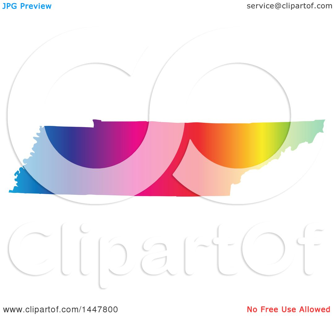 1080x1024 Clipart A Gradient Rainbow Map Tennessee, United States