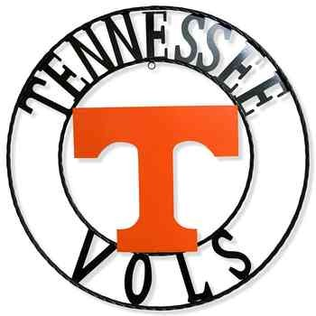 350x350 Tennessee Vols 18 Round Collegiate Sign