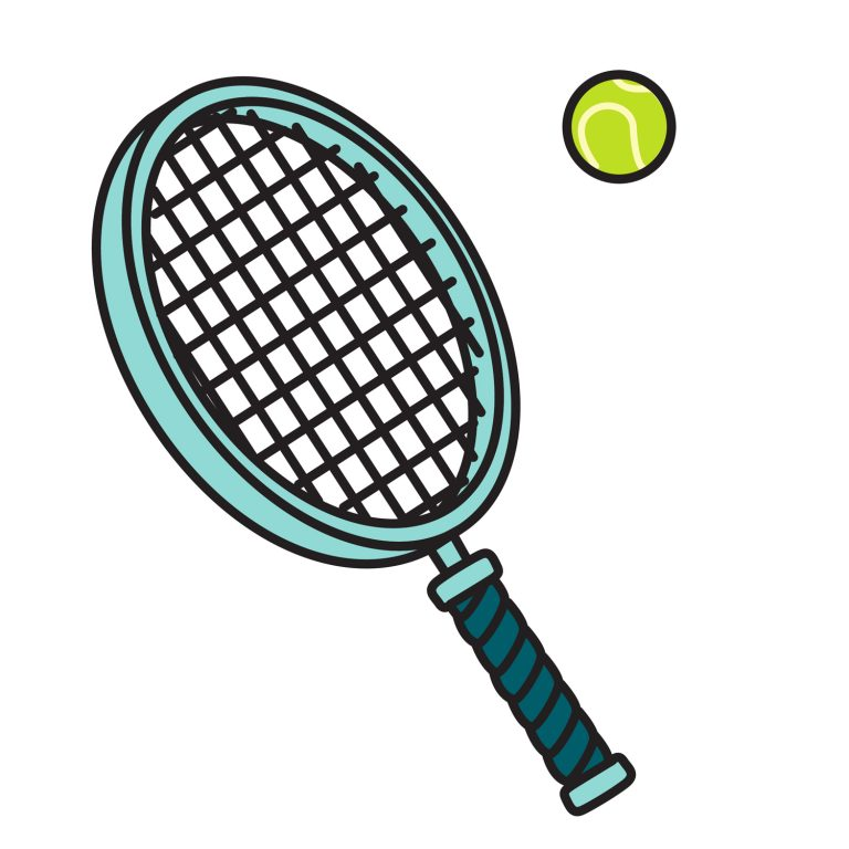 768x768 Tennis Ball And Racket Clip Art Little Tennis Racquet Clipart