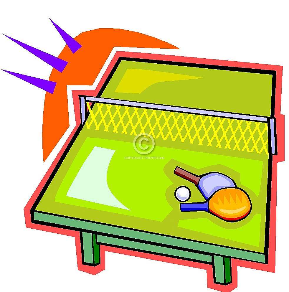 981x991 Ping Pong Tournament Clipart