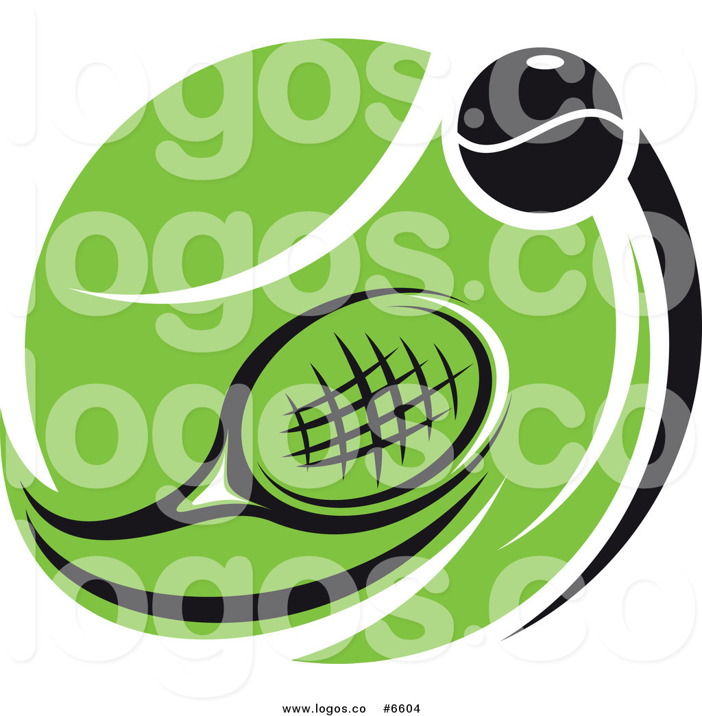 1024x1044 Royalty Free Clip Art Vector Logo Of A Tennis Racket And Ball Over