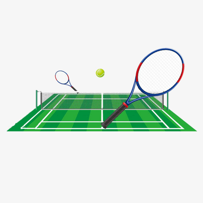 650x651 Cartoon Tennis Court, Double Tennis Court, Tennis Court, Playing