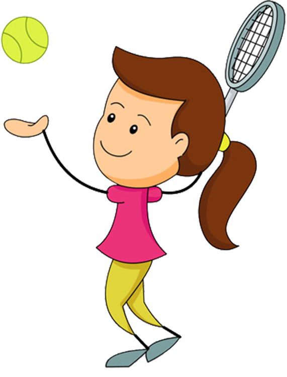 Tennis Player Clipart