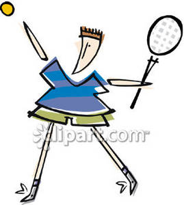269x300 Clipart Picture Of A Stick Figure Playing Tennis