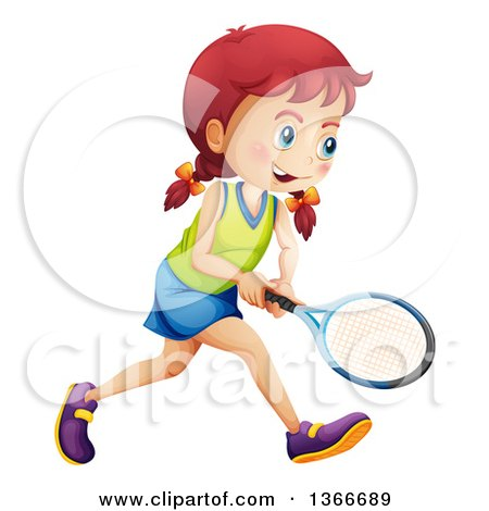 450x470 Clipart Of A White Girl Playing Tennis