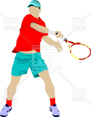 314x400 Tennis Player With Racket
