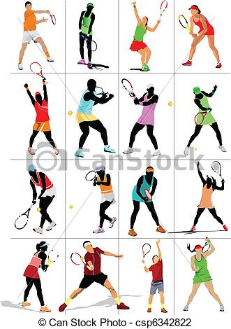 331x470 Tennis Player. Colored Vector Illustration For Designers Vector