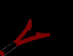 297x228 Red Tennis Racquet Clip Art