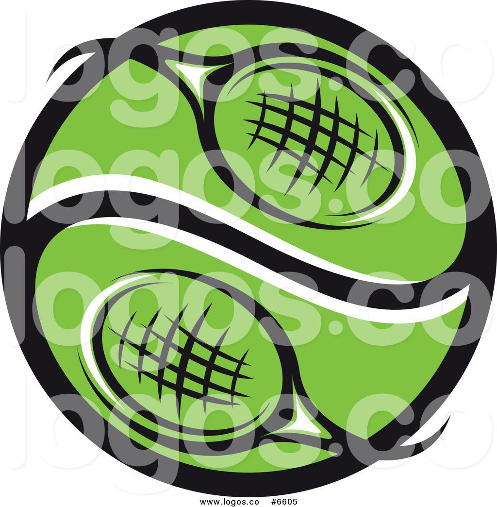 1024x1044 Royalty Free Clip Art Vector Logo Of A Green Tennis Racket Yin