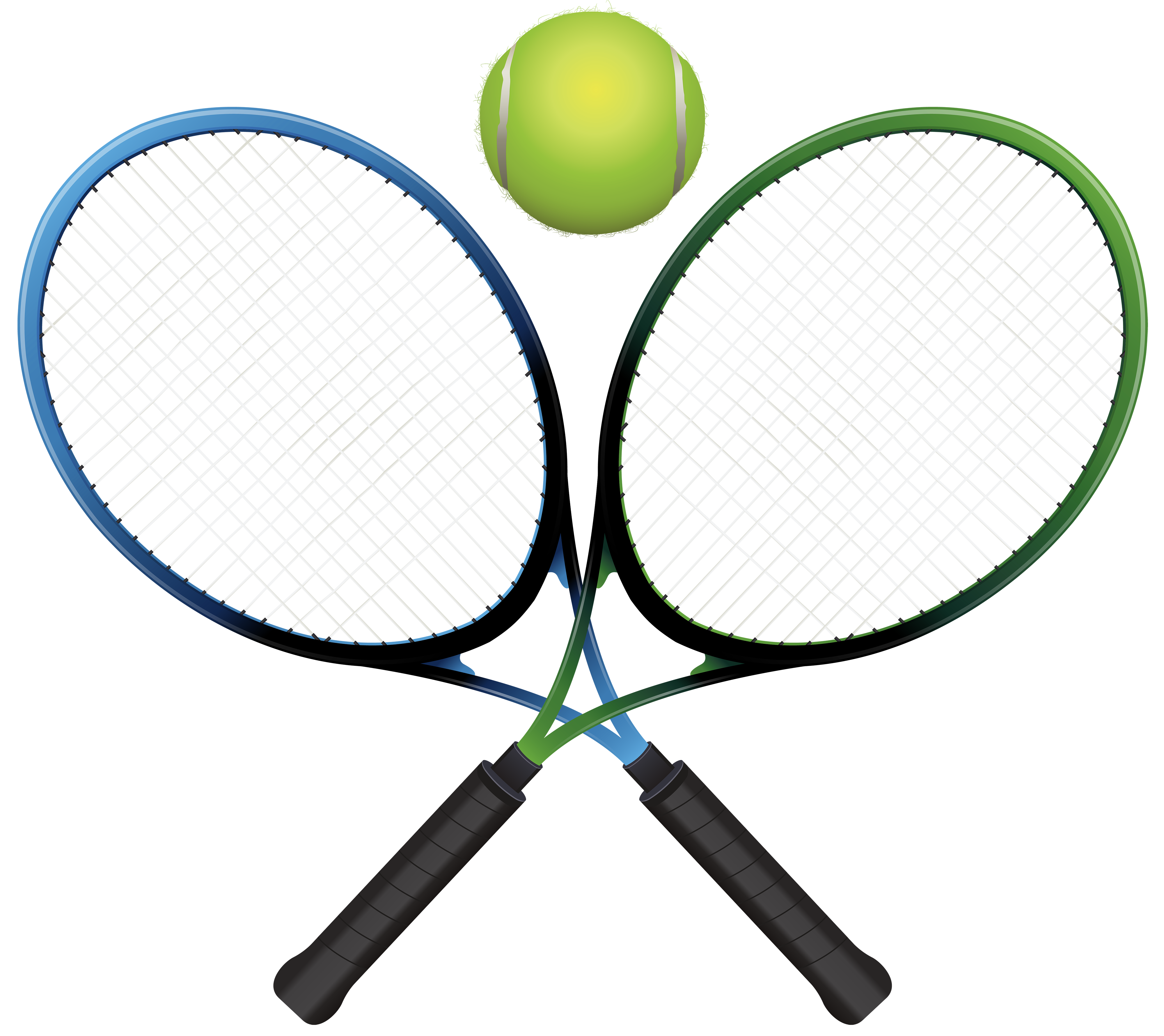 4000x3559 Tennis Rackets And Ball Png Clipart